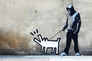 Banksy-Choose-Your-Weapon-Keith-Haring-Dog-by-Banksy1